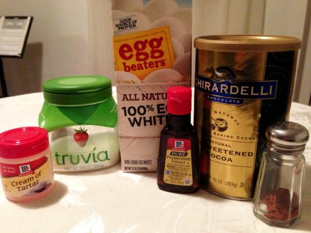 mint meringues batch 1 ingredients