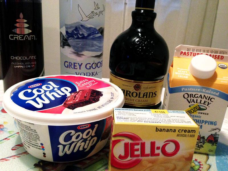Chocolate Vanilla and Banana Cream Pudding Shots Lipstick Kitchen