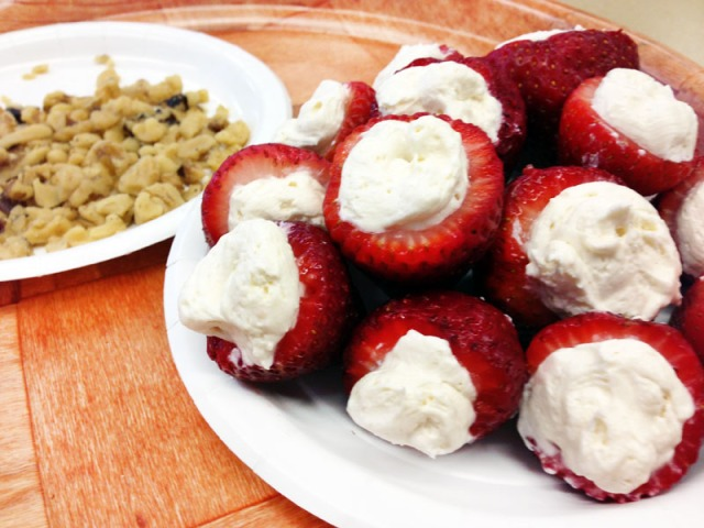 filled strawberries and nuts