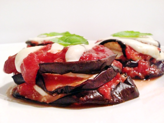 eggplant parm with basil 3