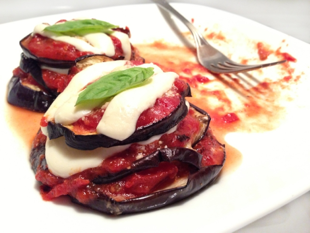 eggplant parm with basil