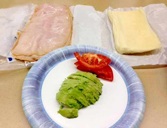 Turkey, swiss and avocado rolls - ingredients