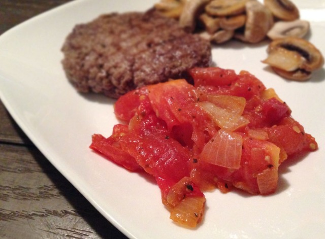 tomato relish - finished with burger