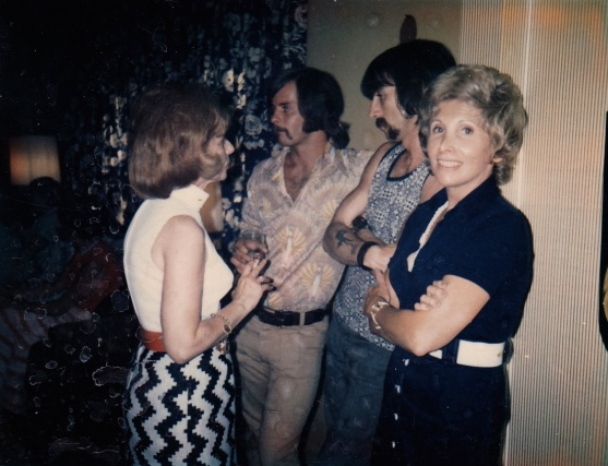 You can't see her face but I just love her outfit here! This was is 1971.
