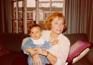Me and my grandma, 1979.